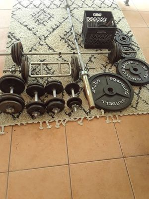 Weight Plates, bars for Sale in St. Petersburg, FL