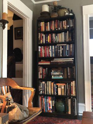 4 billy ikea bookshelves $150. OBO dark brown espresso color for Sale in Seattle, WA