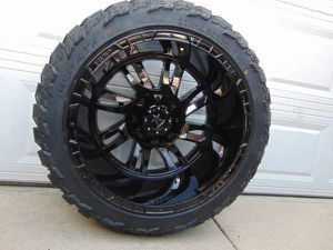 LT 33 14.50 22 AMP M/T Tires & 22X14 Gloss Black RBP Rims *8X170 FORD* for Sale in Aurora, CO