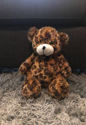 Leopard print stuffed teddy bear for Sale in Orange, CA