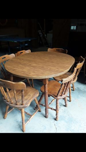 Wooden table and 6 chairs for Sale in Corbett, OR