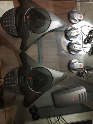 2 Polycom VTX 1000 SoundStation and 4 spider mic for Sale in Oakton, VA