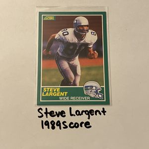 Steve Largent Seattle Seahawks Hall of Fame WR 1989 Score Card. for Sale in San Jose, CA