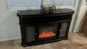 Electric fireplace tv stand for Sale in Surprise, AZ