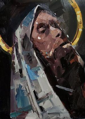JOSE TRUJILLO Oil Painting IMPRESSIONISM 12X16 PORTRAIT IMPRESSIONISM REALISM NR for Sale in Oakland Park, FL