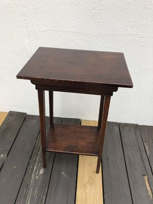 Antique wood end table for Sale in Saugus, MA