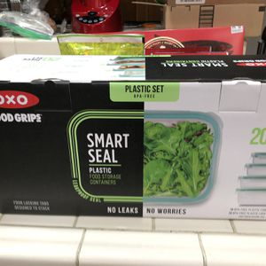 Oxo 20 piece smart sealed plastic containers new in box. for Sale in Monrovia, CA
