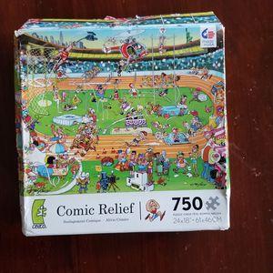 Comic Relief puzzle 750 pieces for Sale in VLG WELLINGTN, FL