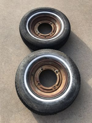 Two P215/75R15 Trailer Tires & Rims for Sale in Lavon, TX