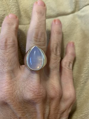 New CZ Moonstone sterling silver 925 size 8 for Sale in Palatine, IL