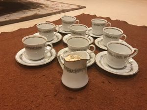 Made in Poland. 8 Unused cups and saucers. 1 milk carafe. for Sale in Fairfax, VA