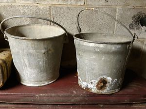 Galvanized buckets 2 5-gallon for Sale in Turbotville, PA