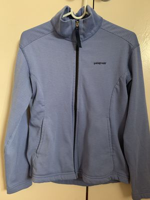 Patagonia underlayer synchilla jacket sweater light blue purple size S women for Sale in Loma Linda, CA