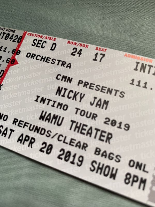 2 Nicky jam concert tickets