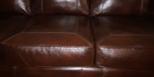 Full Nice Barley Used Genuine Leather Set With Table for Sale in O'Fallon,  IL