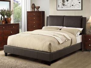 Full Leather Bed Frame, Black for Sale in Norwalk, CA
