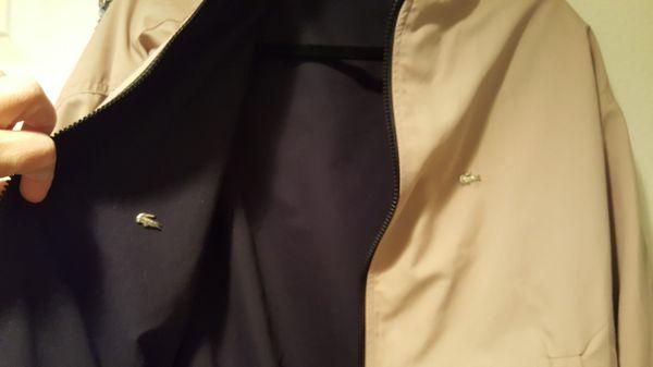 Lacoste..reversible jacket..large