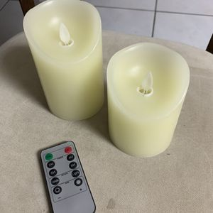 2 Artificial Battery Operated Candles for Sale in Miami, FL