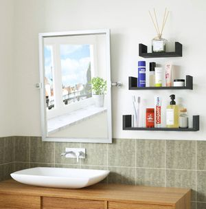 SHIPPING ONLY 3 Piece Floating Shelves Set for Home Bathroom Bedroom or Living Room for Sale in Las Vegas, NV