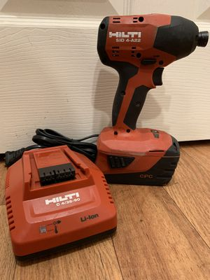 Hilti 22 volts impact driver with battery and charger. Excellent working condition. $130 price is firm for Sale in Bellevue, WA