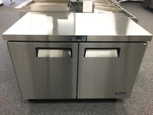 Double door worktop under counter commercial refrigerator cooler for Sale in Kent, WA