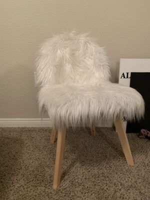 White Fur chair for Sale in Las Vegas, NV