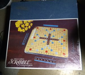 Scrabble Deluxe Edition puzzle board game for Sale in Reno, NV