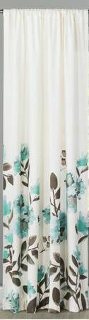 """Threshold Cream Blue Floral Curtain Panel 54"""" x 84"""" LivingRoom Bedroom for Sale in Brooklyn, NY"""