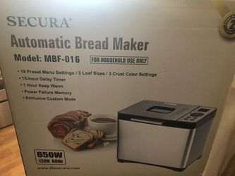 Secura Bread Maker for Sale in Polk City,  FL