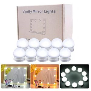 10Pcs Makeup Mirror Vanity LED Light Bulbs lamp Kit Lighted Make up Mirrors Cosmetic lights for Sale in Port Washington, NY