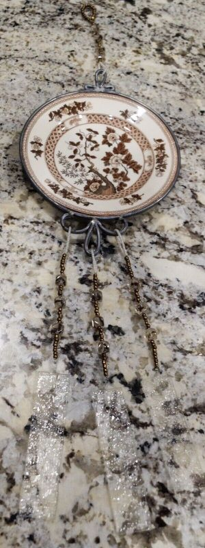 """22"""" Nasco Indian Tree Unique Brown and White Wind Chime with Beads for Sale in Southlake, TX"""