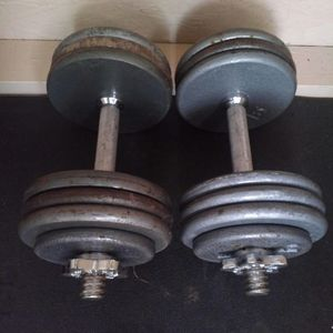 Weights / adjustable dumbbells each up 35lb. $50 firm. for Sale in Vancouver, WA