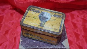 Antique Edison Mazda Lamps Tin for Sale in Grass Valley, CA