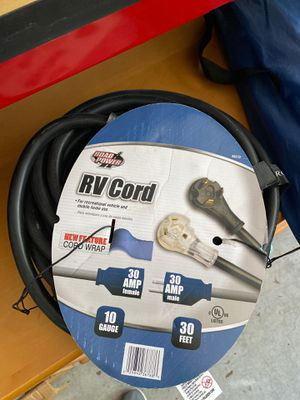 Rv extension cord 30amps for Sale in San Diego, CA