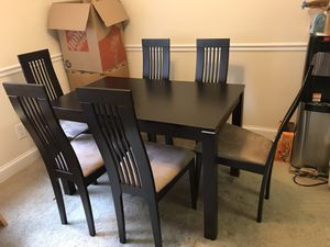 Beautiful 7-piece modern hard wood dining set for Sale in Falls Church, VA