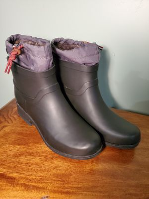Lucky brand rubber rain boots size 9 with liner for Sale in Burbank, CA