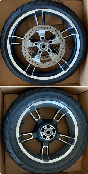 Harley Davidson front and rear rim and tire. for Sale in Fredericksburg, VA