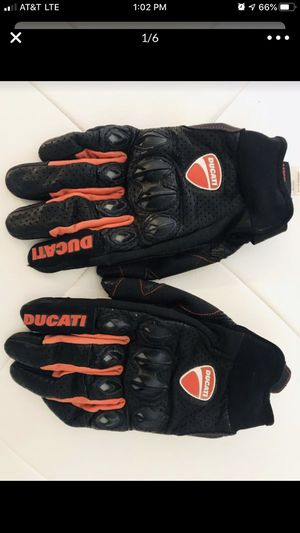 Ducati Genuine Leather Racing Glove Motorcycle Gloves Cycling Motorbike Sports Moto Racing for Sale in FL, US