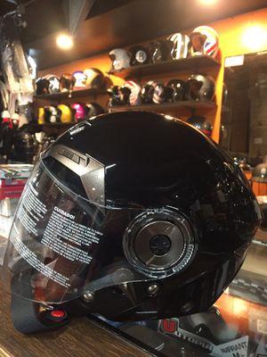 New open face black dot motorcycle helmet $65 for Sale in Whittier, CA