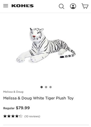 Melissa and Doug white tiger for Sale in Laveen Village, AZ