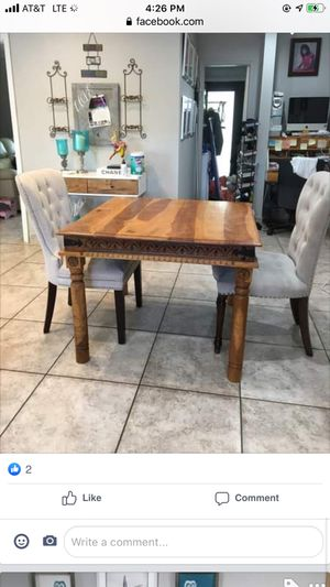 Z Gallerie table with two chairs for Sale in Miami, FL