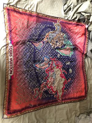 Louis Vuitton silk scarf 100 authentic for Sale in Fort Lauderdale, FL
