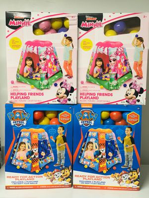 Paw Patrol and Minnie Mouse Inflatable Ball Pit for Sale in Puyallup, WA