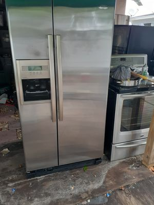 side by side refrigerator stainless steel for Sale in West Park, FL