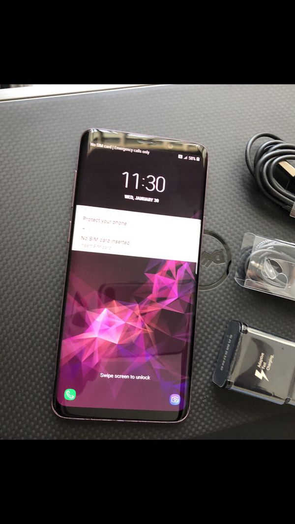 Samsung galaxy s9 plus- factory unlocked with accessories + clean IMEI