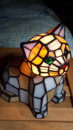 Stained Glass Kitty Night Light for Sale in West Columbia, SC