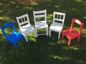 Five ikea Toddler kid chairs for Sale in Naperville, IL