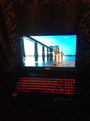 MSi gaming laptop 265 GB 1 TB 1.3 TB nvidia GpU 16 GB RAM operating System MacOS Windows Os Processor 2.2 GHz widows 10 pro for Sale in Kingsport, TN