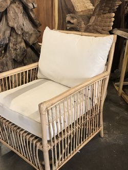 New Boho Rattan Style Cream Outdoor Accent Chair $149! for Sale in Vancouver,  WA