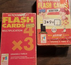 VINTAGE MATH FLASHCARDS (2 BOXES) for Sale in Phoenix, AZ
